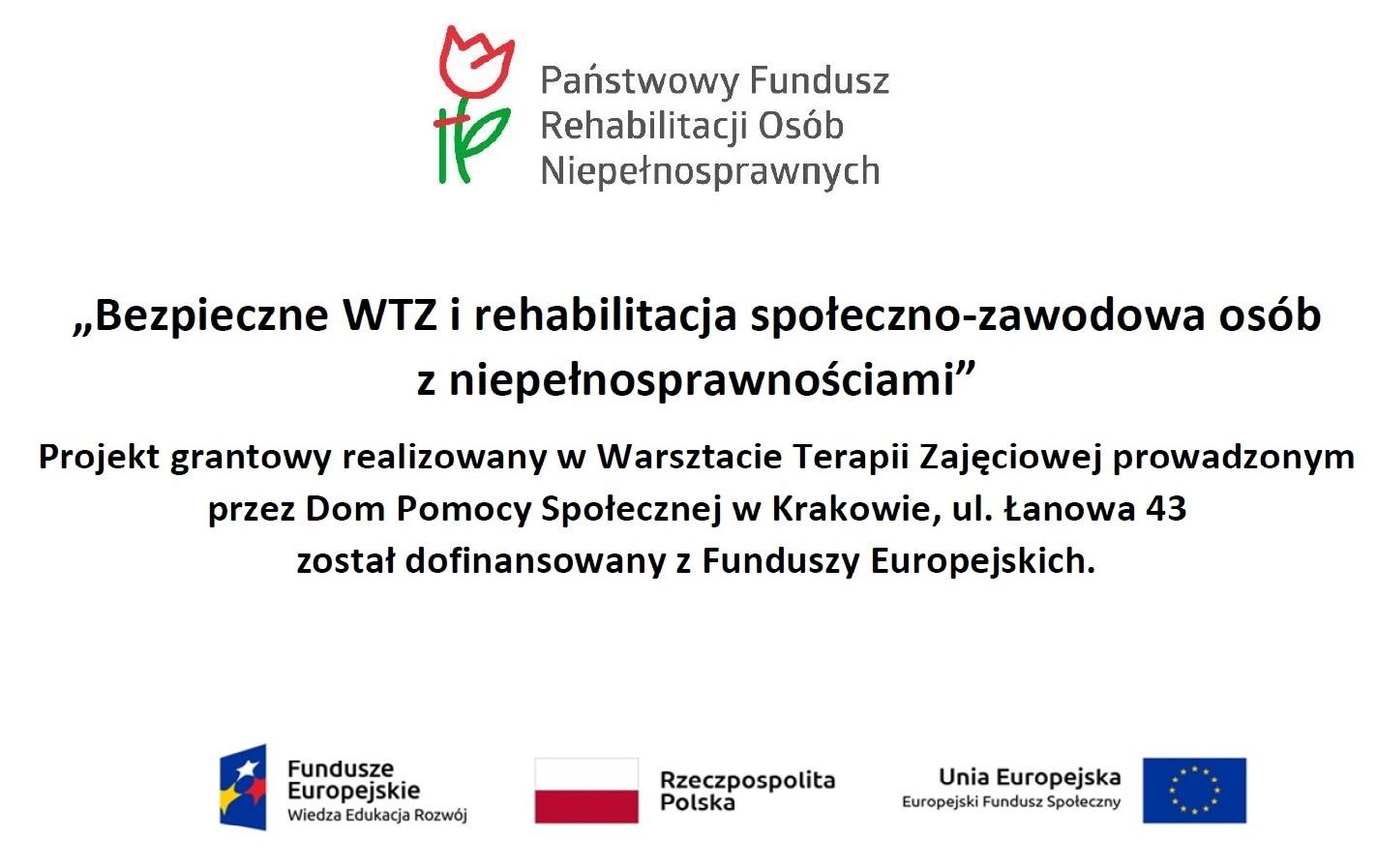 """Projekt """"Bezpieczny WTZ"""""""